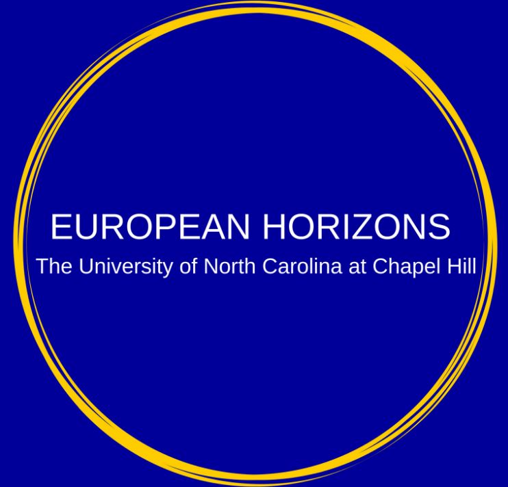 The logo of European Horizons, a student think tank at UNC.