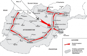 Map of the Soviet invasion of Afghanistan. Wikimedia Commons: U.S. Department of Defense