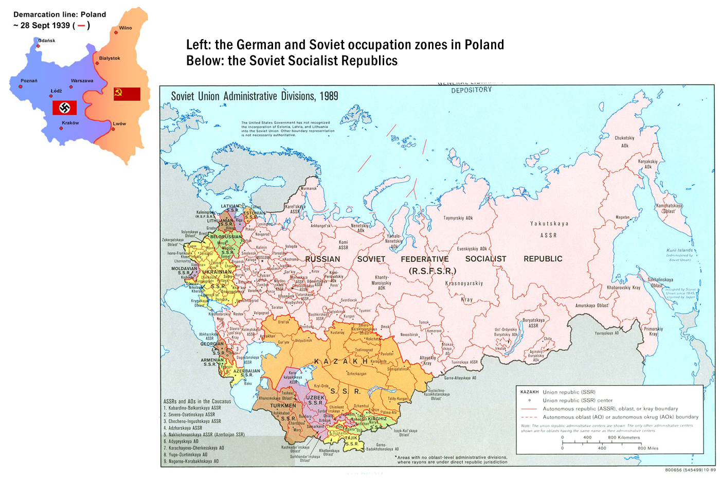 Map Of Germany And Russia.The End Of Wwii And The Division Of Europe Ces At Unc