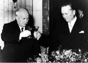 Tito meeting with Nikita Krushchev