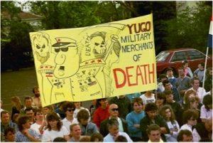 A poster protesting Tito