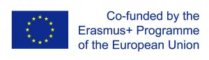 EU flag with the text co-funded by the Erasmus+ Programme of the European Union.