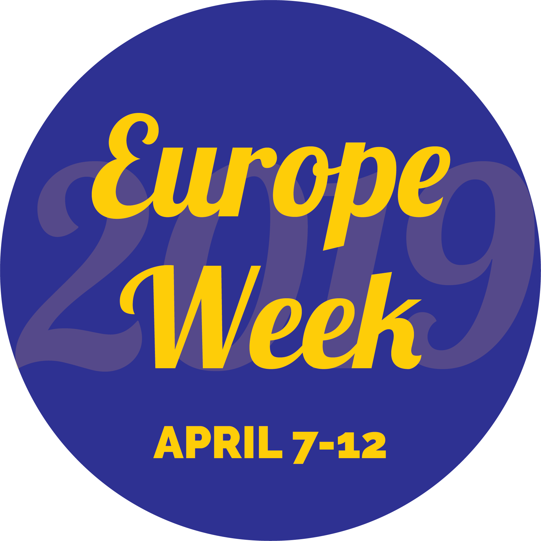 A Europe Week 2019 logo with dates April 7-12.