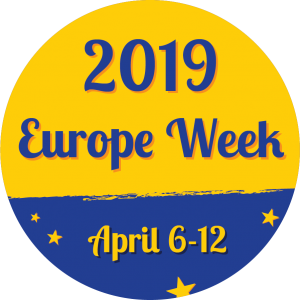 A Europe Week 2019 brand image with dates April 6012.