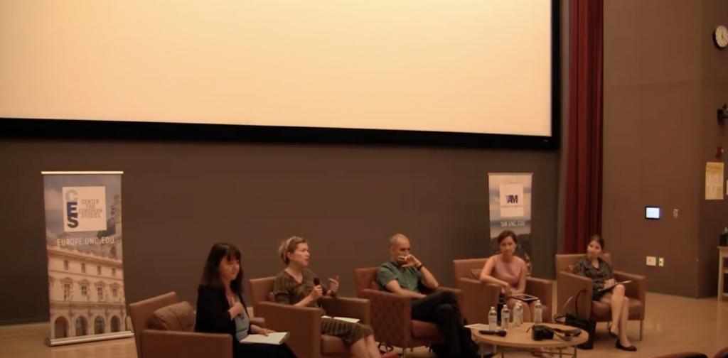 Anna Grzymala-Busse speaks on the panel.