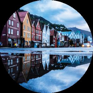 Decorative photo of Bergen, Norway.