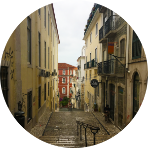Decorative photo of street in Portugal.