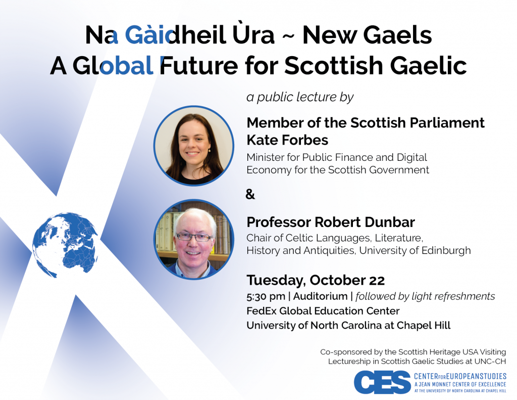 Gaelic Symposium event flyer - PDF is accessible on event page.