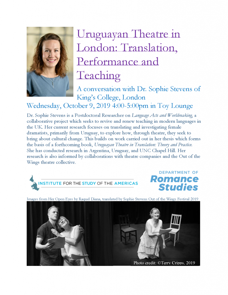 Sophie Stevens event flyer with details available in PDF version on event page.