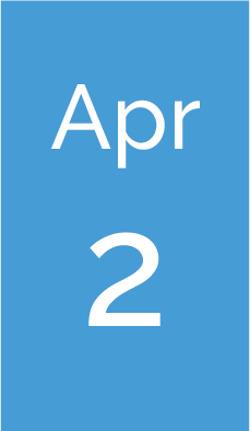 Rectangle with text saying Apr 2.