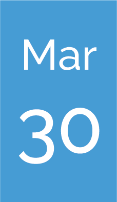 Rectangle with text saying Mar 30.