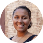 The text in the tooltip says: Desiree Lockhart is a first-year Honors student from Maryland studying Public Policy. Growing up in an extremely diverse area with a high immigrant population led her to have a passion for foreign affairs and serve under-represented communities.