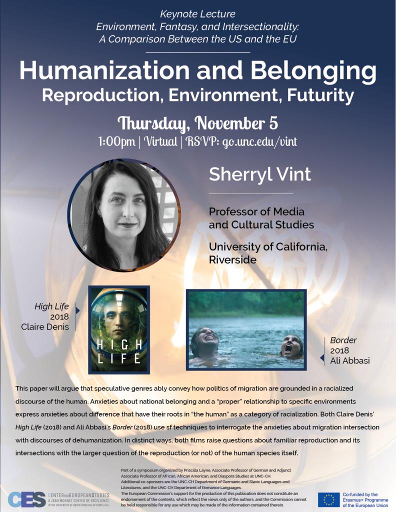 Flyer advertising keynote on humanization and belonging on November 5 2020.