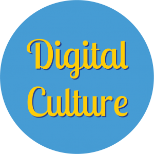 Decorative circle with text that says Digital Culture.