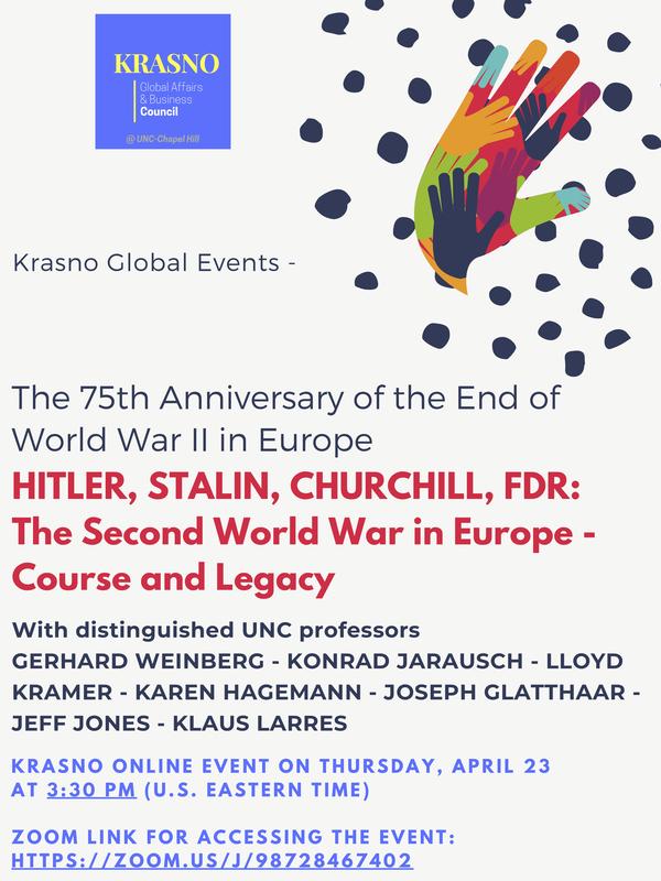 Flyer for April 23 Krasno event.
