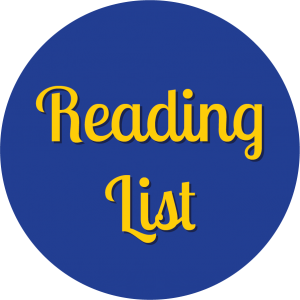 Decorative circle with text that says Reading List.