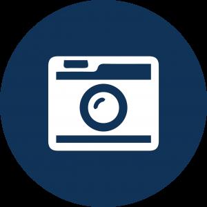 Icon of a film camera.