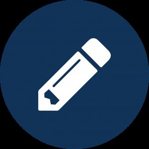 Icon of pencil.