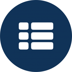 Icon of a list with three items.