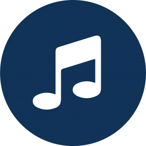 Icon of music note.