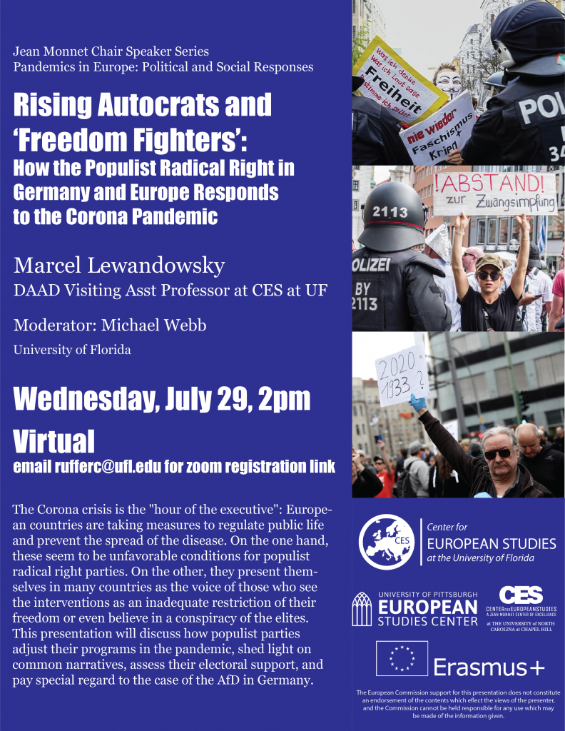 Flyer for the Rising Autocrats and Freedom Fighters event on July 29 2020.