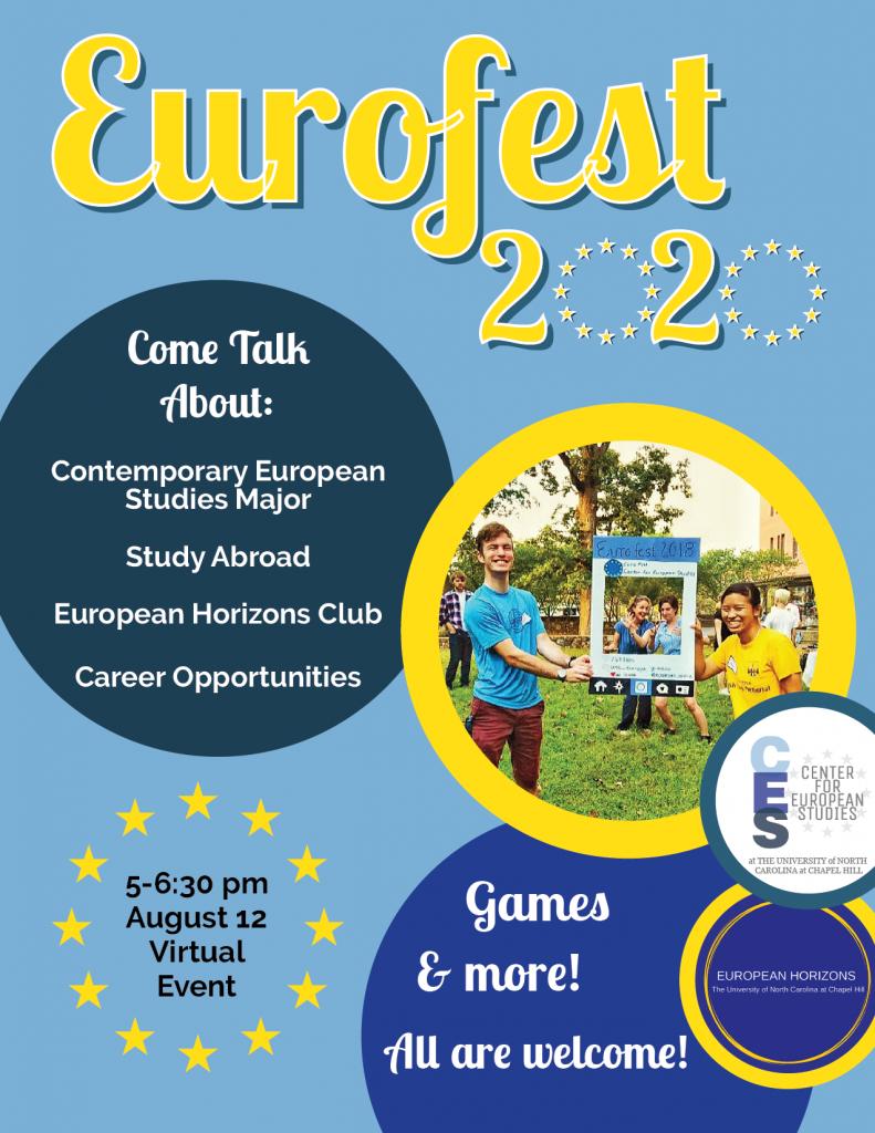 Flyer for EUROfest 2020 event.