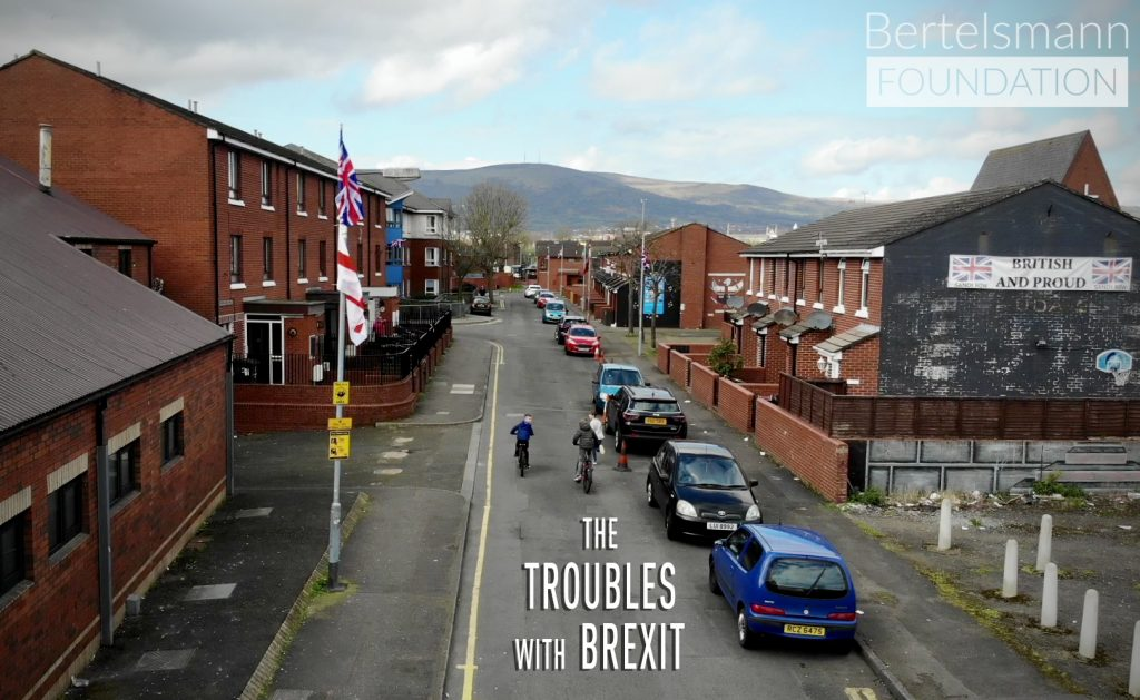 The Troubles with Brexit film poster showing a street in Northern Ireland.