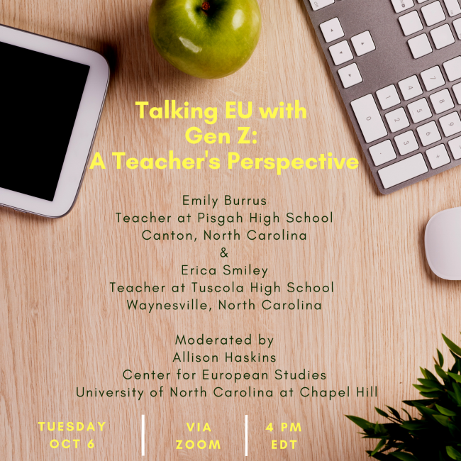 Flyer for event on Talking EU with Gen Z.
