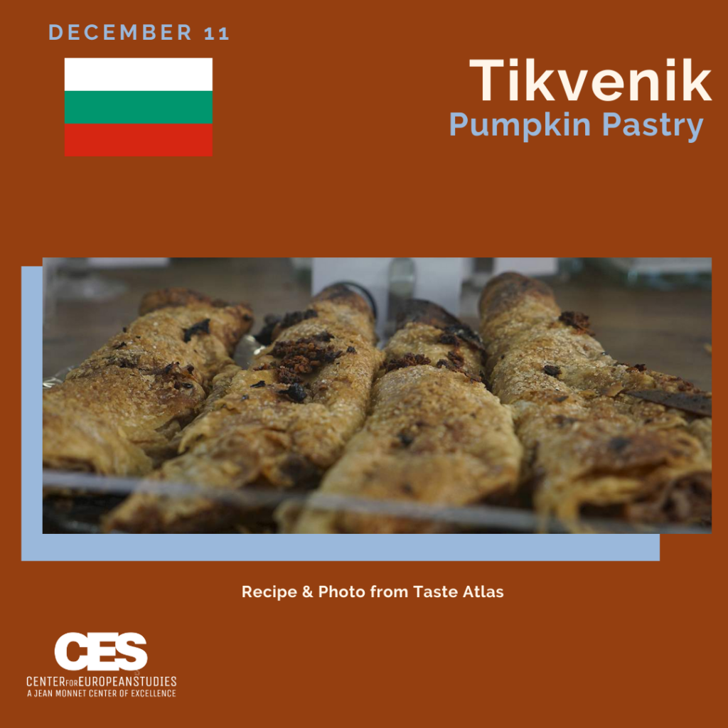 Tile with picture of pumpkin pastries