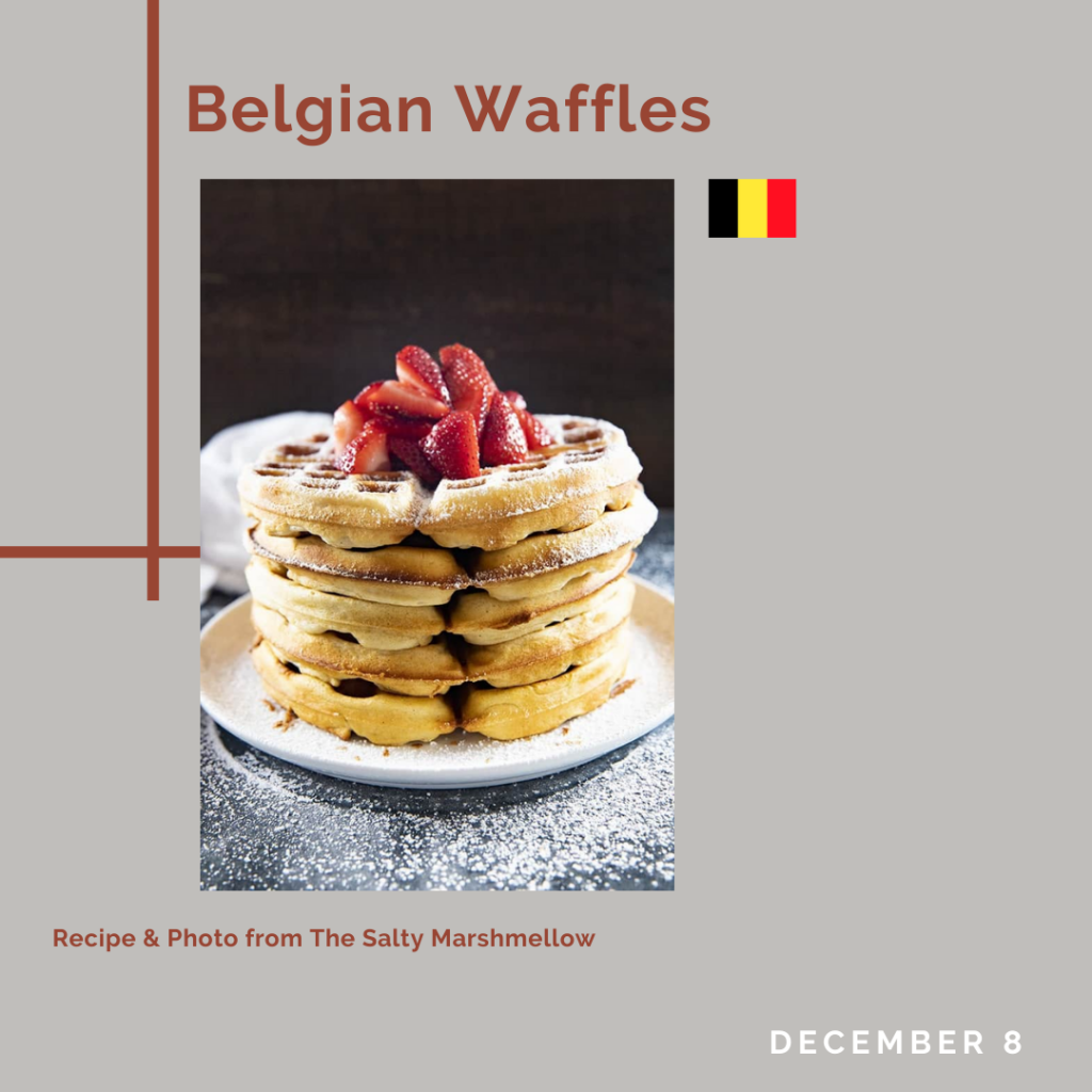 Tile with picture of waffles