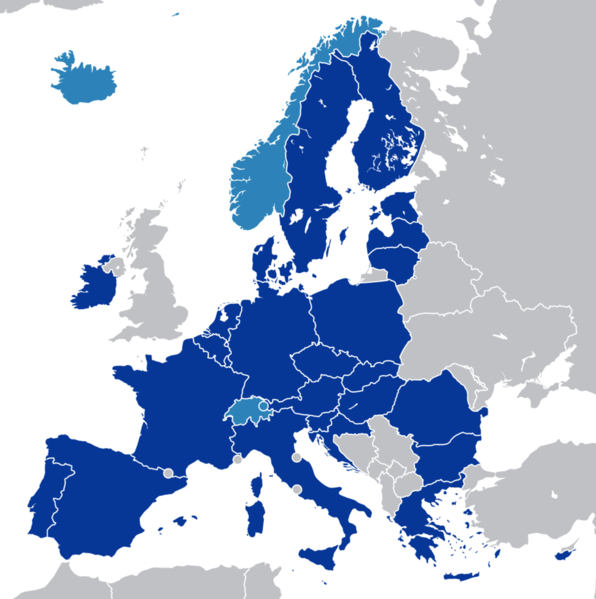 This map shows the countries, including non-EU ones, who participate in the European Single Market.